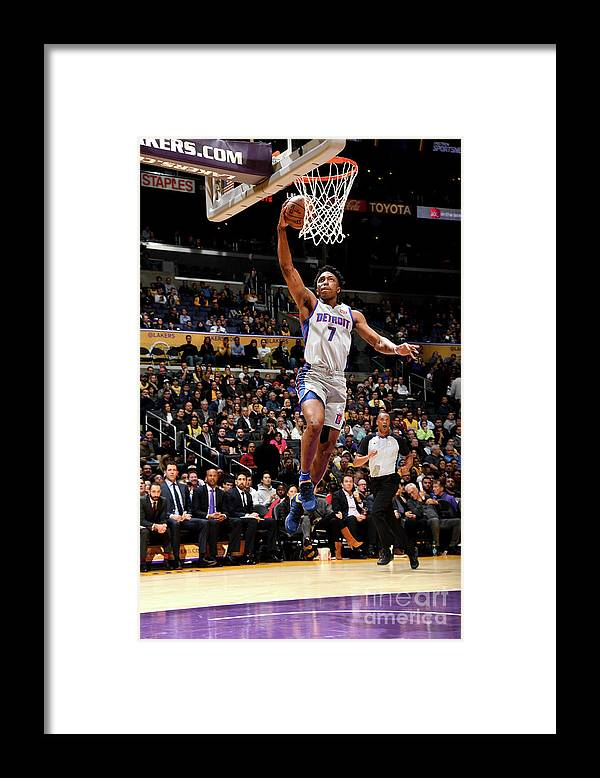 Nba Pro Basketball Framed Print featuring the photograph Stanley Johnson by Andrew D. Bernstein
