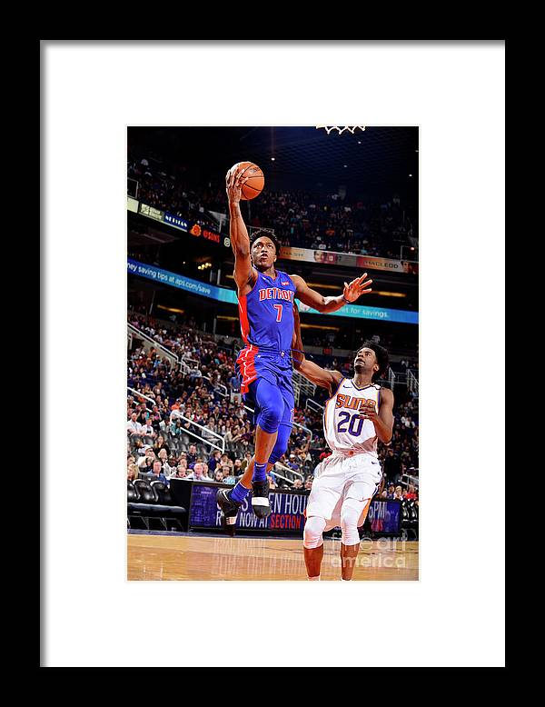 Sports Ball Framed Print featuring the photograph Stanley Johnson by Barry Gossage