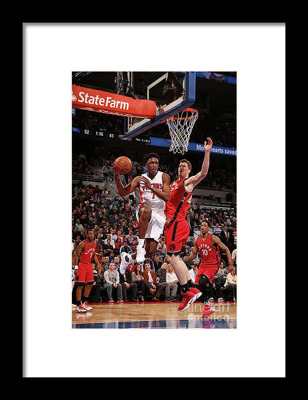 Nba Pro Basketball Framed Print featuring the photograph Stanley Johnson by Brian Sevald