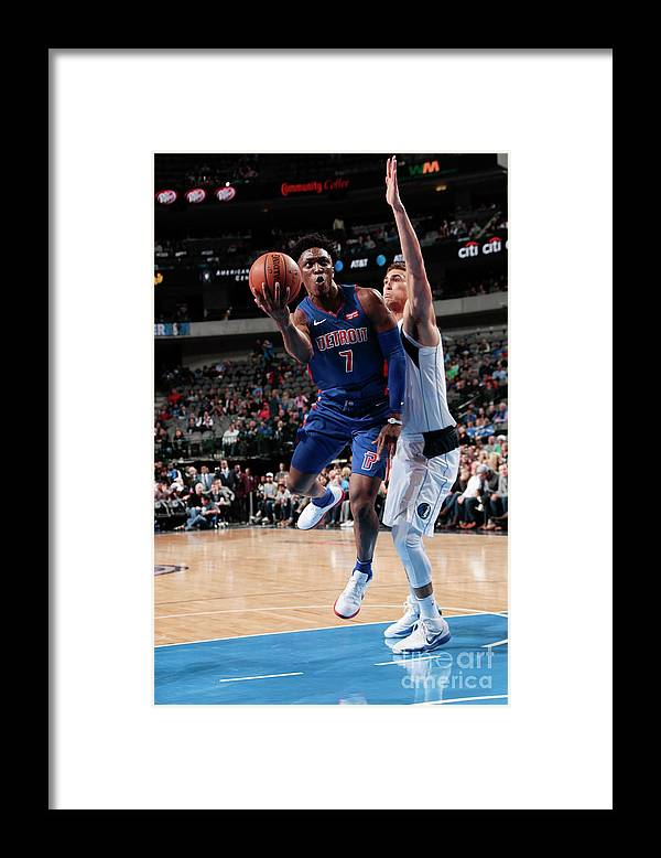 Nba Pro Basketball Framed Print featuring the photograph Stanley Johnson by Glenn James