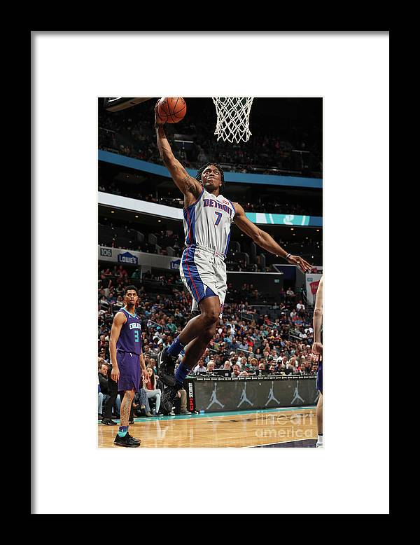 Nba Pro Basketball Framed Print featuring the photograph Stanley Johnson by Kent Smith