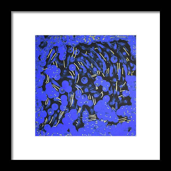 Blue Framed Print featuring the painting Stargazing by Pam Roth O'Mara