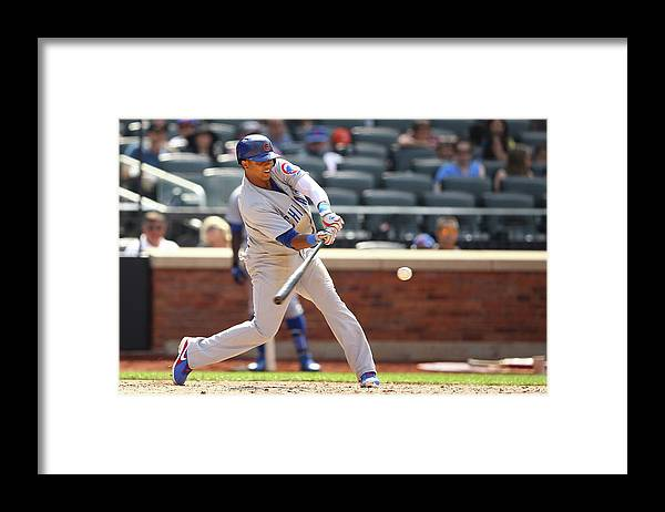 American League Baseball Framed Print featuring the photograph Starlin Castro by Al Bello