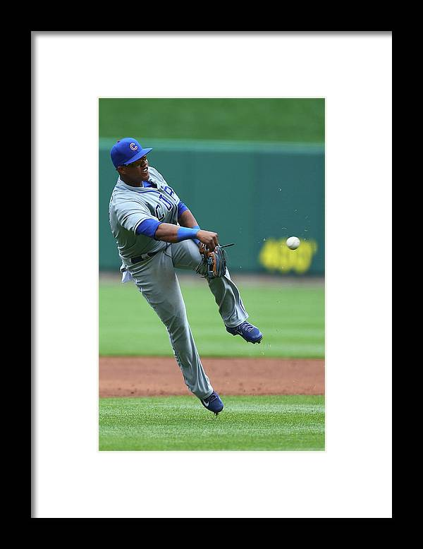 Second Inning Framed Print featuring the photograph Starlin Castro by Dilip Vishwanat