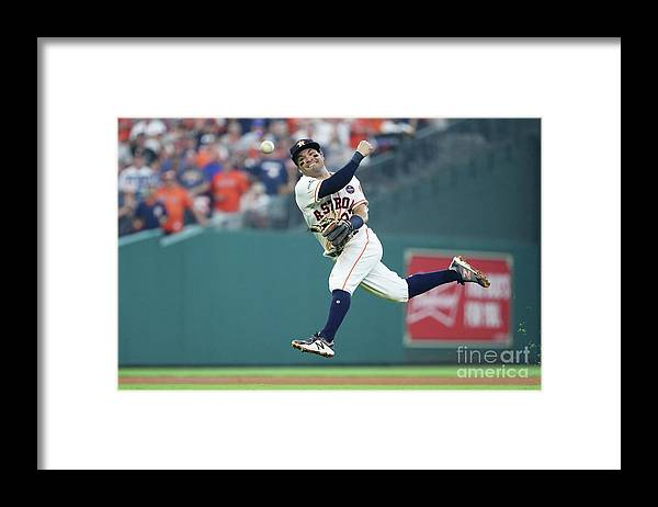 Game Two Framed Print featuring the photograph Starlin Castro by Elsa