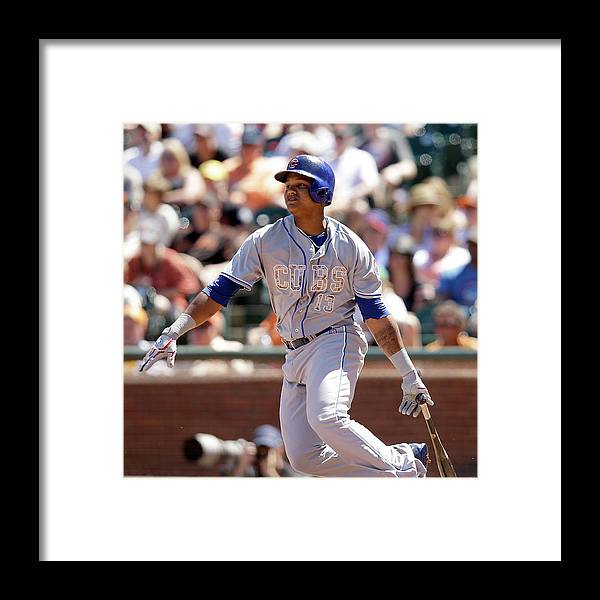 San Francisco Framed Print featuring the photograph Starlin Castro by Ezra Shaw