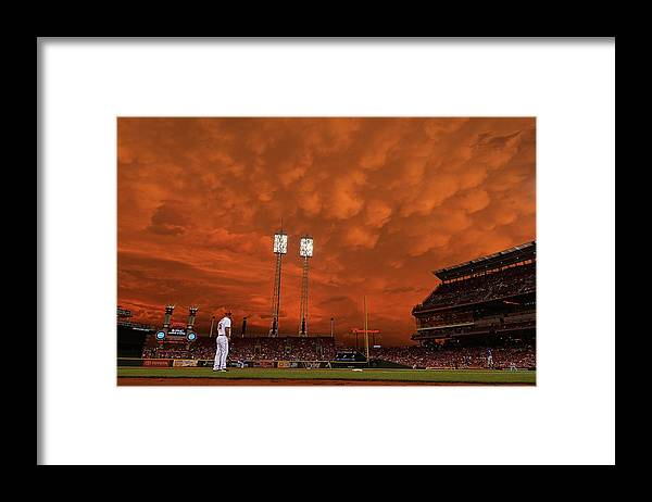 Great American Ball Park Framed Print featuring the photograph Starlin Castro by Jamie Sabau