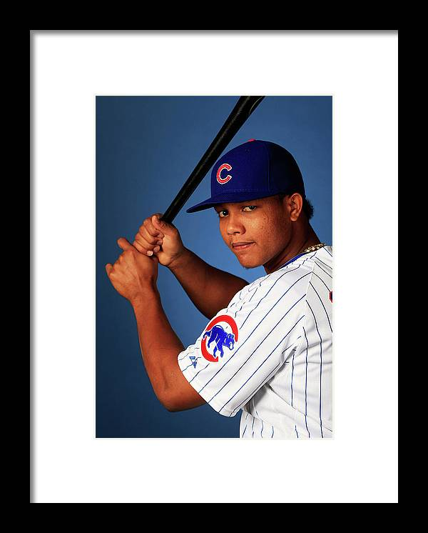 Media Day Framed Print featuring the photograph Starlin Castro by Jamie Squire