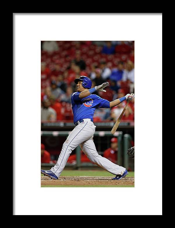Great American Ball Park Framed Print featuring the photograph Starlin Castro by Joe Robbins