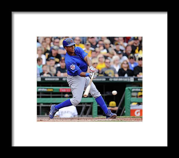 Pnc Park Framed Print featuring the photograph Starlin Castro by Joe Sargent