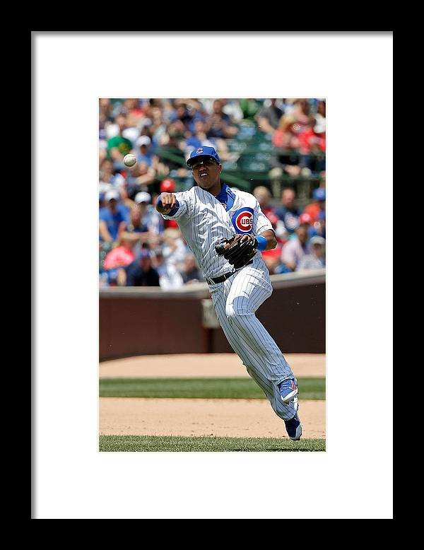People Framed Print featuring the photograph Starlin Castro by Jon Durr