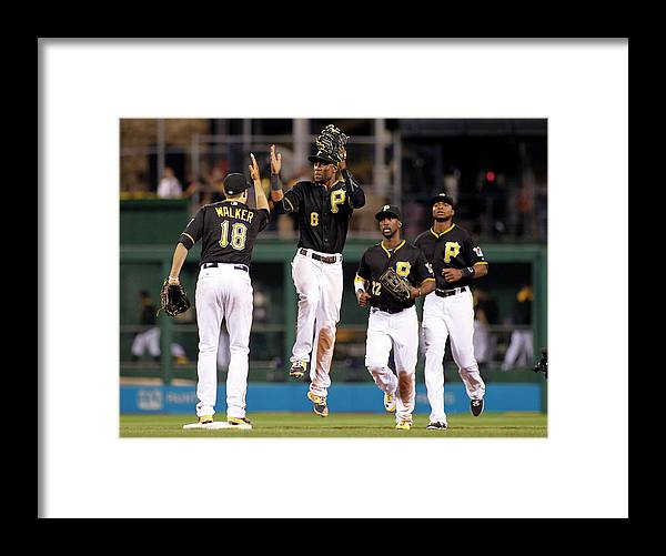 American League Baseball Framed Print featuring the photograph Starling Marte by Justin K. Aller