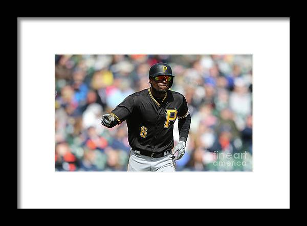 Three Quarter Length Framed Print featuring the photograph Starling Marte by Leon Halip