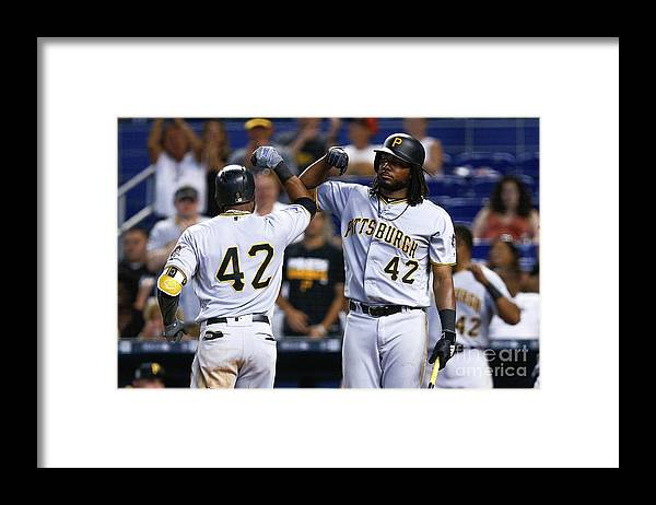 Three Quarter Length Framed Print featuring the photograph Starling Marte by Michael Reaves