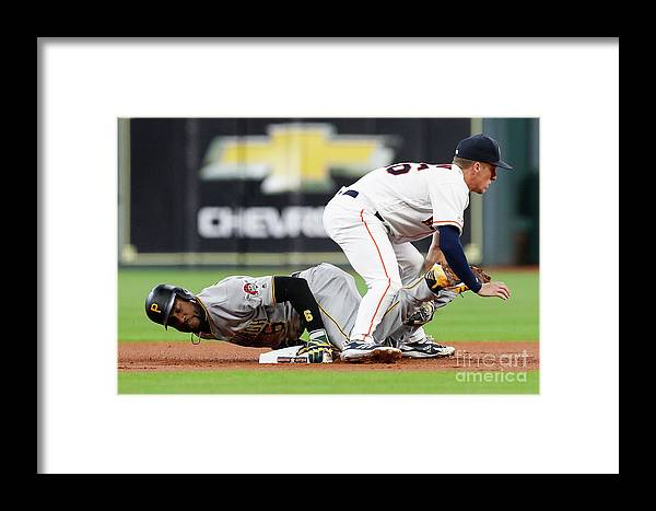 People Framed Print featuring the photograph Starling Marte by Tim Warner