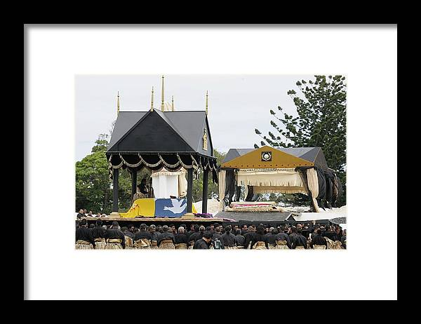 Royalty Framed Print featuring the photograph State Funeral For King Taufa'ahau Tupou IV of Tonga by Sandra Mu