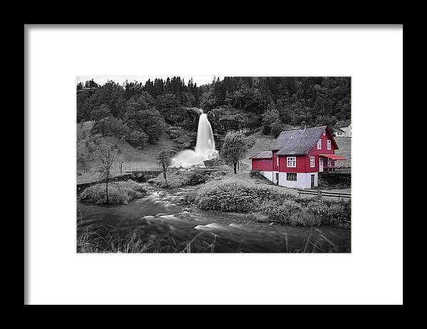 Framed Print featuring the photograph Steinsdalsfossen by Pop