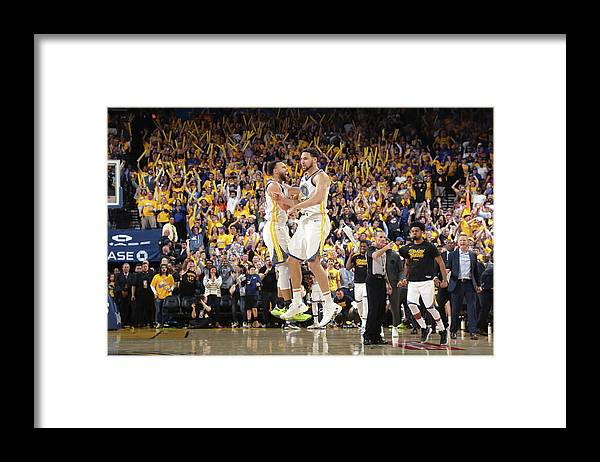 Playoffs Framed Print featuring the photograph Stephen Curry and Klay Thompson by Joe Murphy