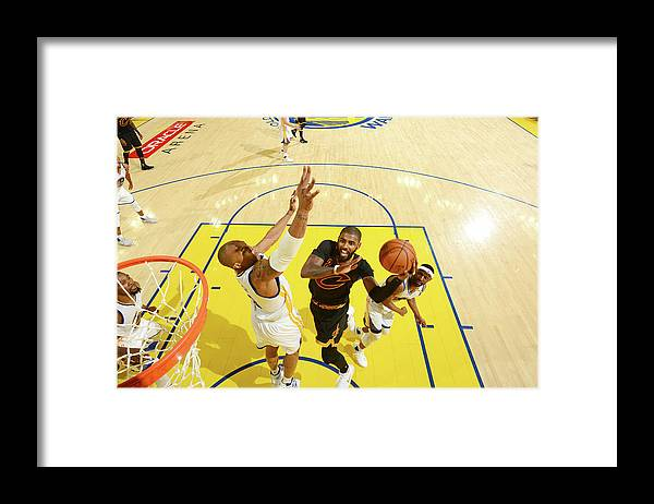 Playoffs Framed Print featuring the photograph Stephen Curry and Kyrie Irving by Jesse D. Garrabrant