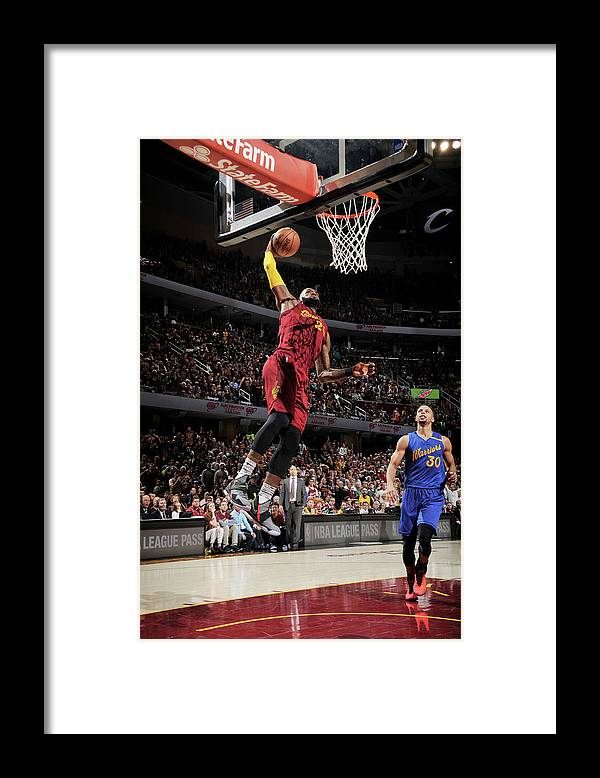 Nba Pro Basketball Framed Print featuring the photograph Stephen Curry and Lebron James by David Liam Kyle
