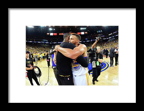 Playoffs Framed Print featuring the photograph Stephen Curry and Lebron James by Jesse D. Garrabrant