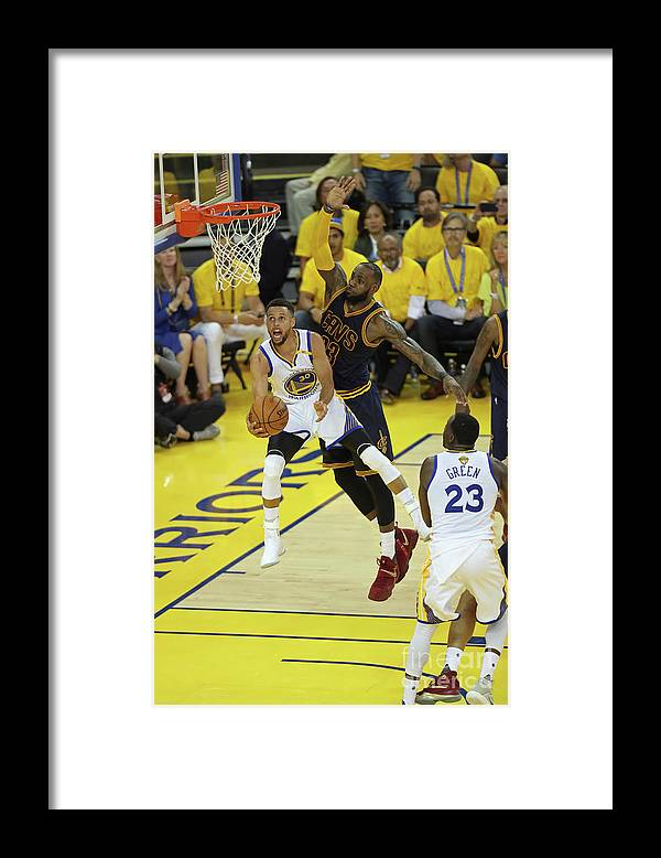 Playoffs Framed Print featuring the photograph Stephen Curry and Lebron James by Joe Murphy