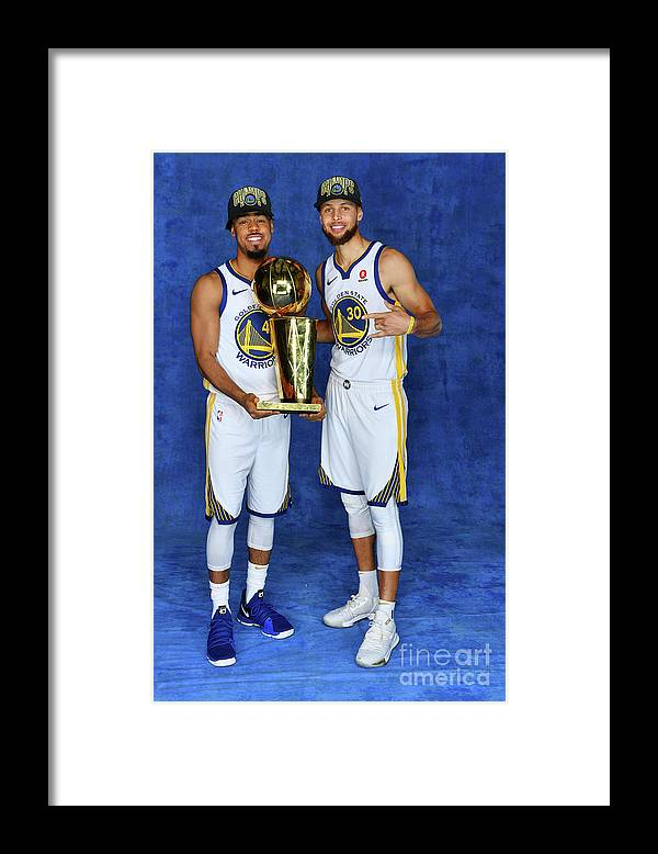 Playoffs Framed Print featuring the photograph Stephen Curry and Quinn Cook by Jesse D. Garrabrant