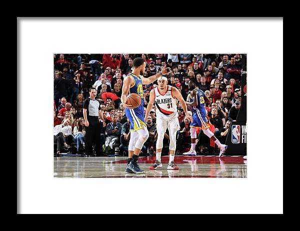 Nba Pro Basketball Framed Print featuring the photograph Stephen Curry and Seth Curry by Andrew D. Bernstein