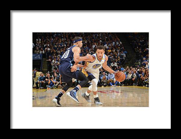 Nba Pro Basketball Framed Print featuring the photograph Stephen Curry and Seth Curry by Noah Graham