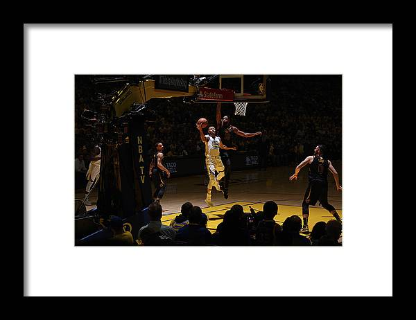 Playoffs Framed Print featuring the photograph Stephen Curry and Tristan Thompson by Garrett Ellwood