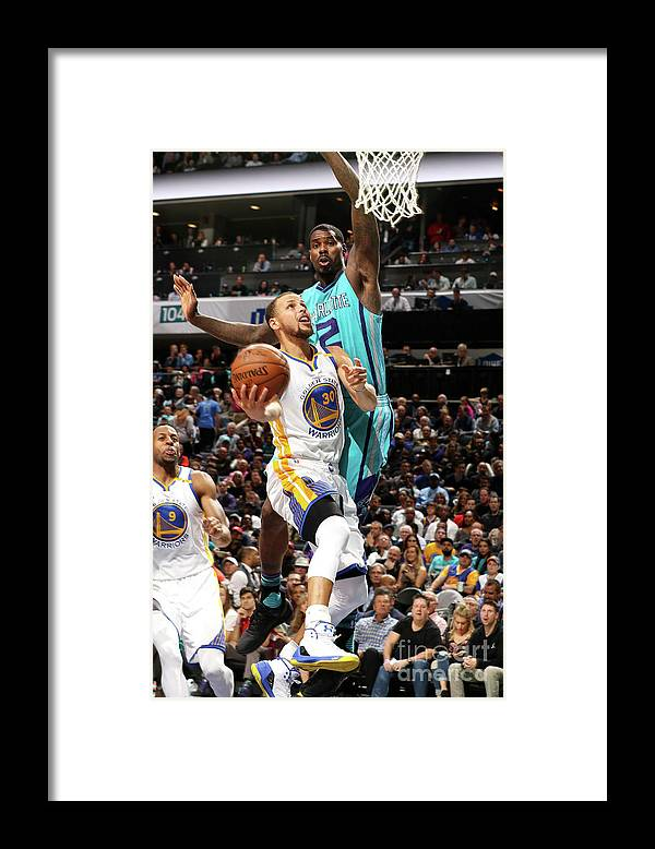 Nba Pro Basketball Framed Print featuring the photograph Stephen Curry by Brock Williams-smith