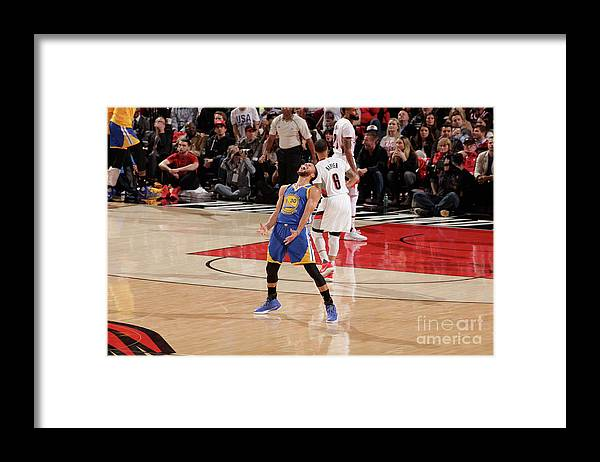 Playoffs Framed Print featuring the photograph Stephen Curry by Cameron Browne