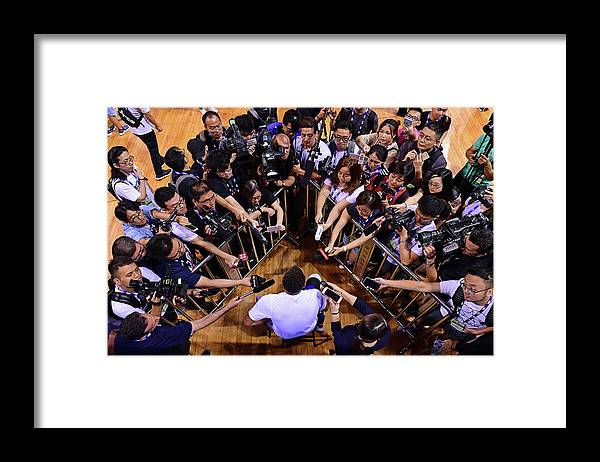 Event Framed Print featuring the photograph Stephen Curry by David Dow