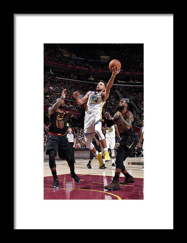 Nba Pro Basketball Framed Print featuring the photograph Stephen Curry by David Liam Kyle