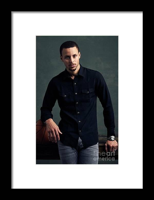 Event Framed Print featuring the photograph Stephen Curry by Jennifer Pottheiser