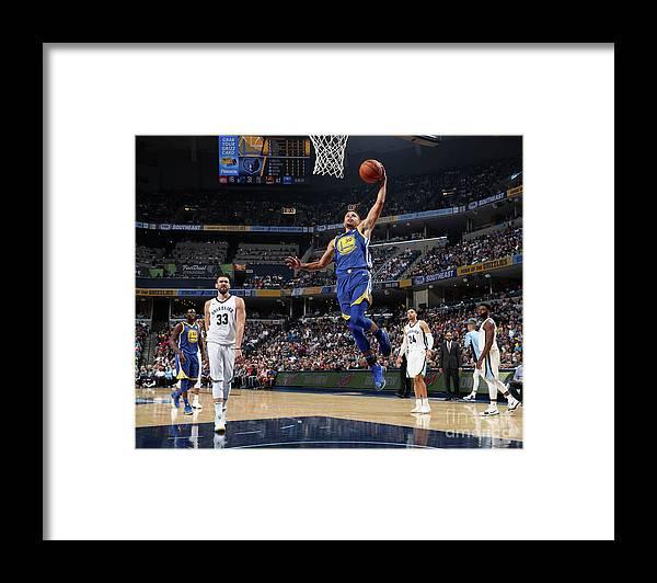 Nba Pro Basketball Framed Print featuring the photograph Stephen Curry by Joe Murphy