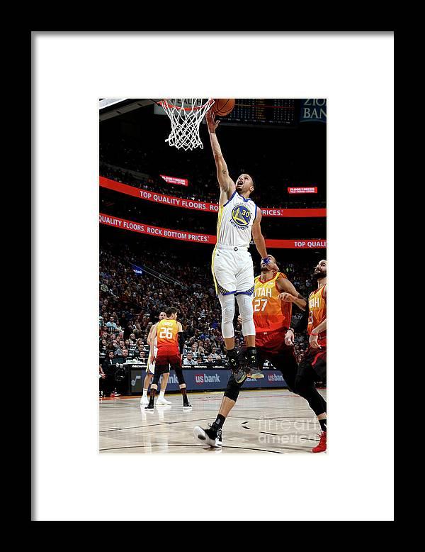 Nba Pro Basketball Framed Print featuring the photograph Stephen Curry by Melissa Majchrzak
