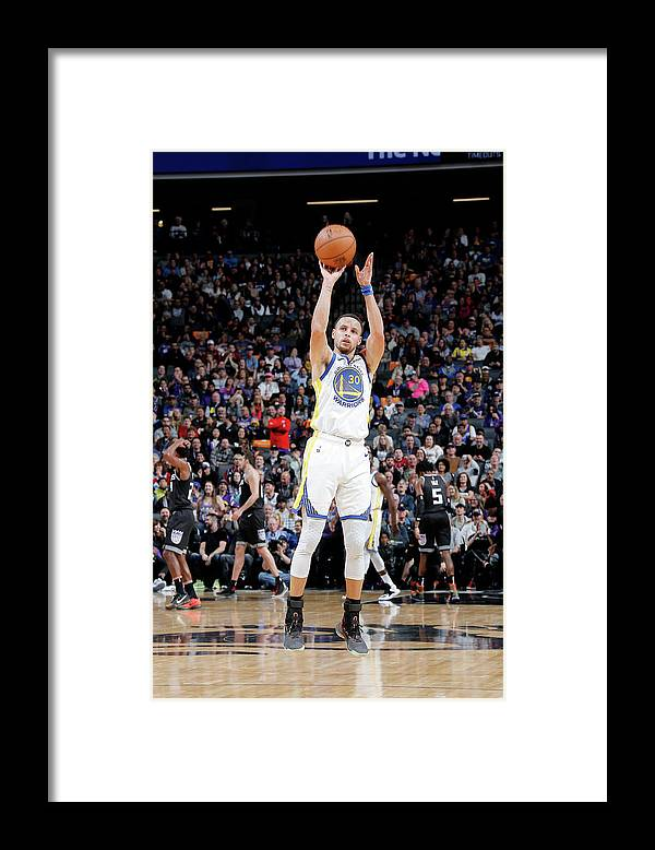 Nba Pro Basketball Framed Print featuring the photograph Stephen Curry by Rocky Widner