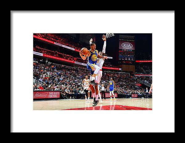 Atlanta Framed Print featuring the photograph Stephen Curry by Scott Cunningham