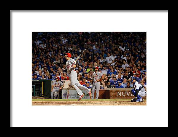 St. Louis Cardinals Framed Print featuring the photograph Stephen Piscotty by Jon Durr
