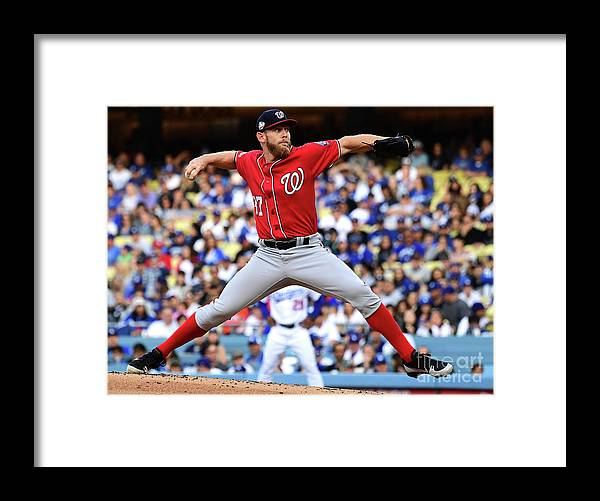 People Framed Print featuring the photograph Stephen Strasburg by Jayne Kamin-oncea