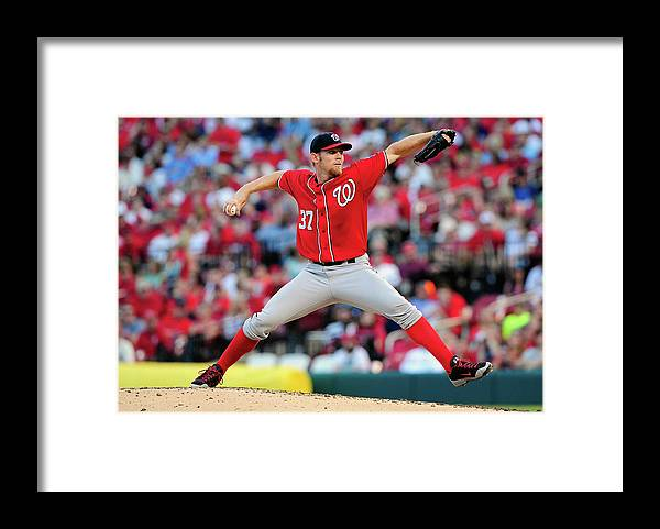 Stephen Strasburg Framed Print featuring the photograph Stephen Strasburg by Jeff Curry