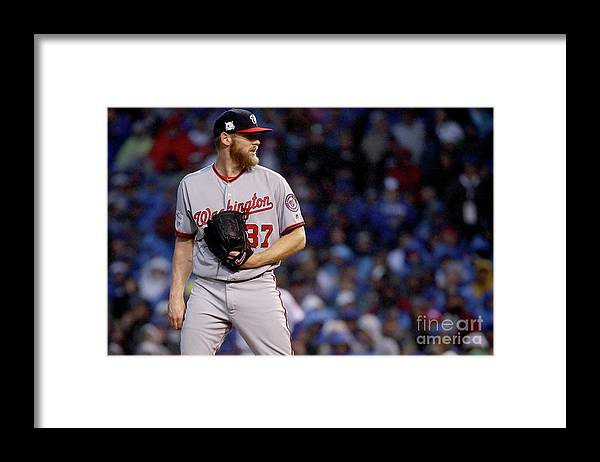 Three Quarter Length Framed Print featuring the photograph Stephen Strasburg by Jonathan Daniel
