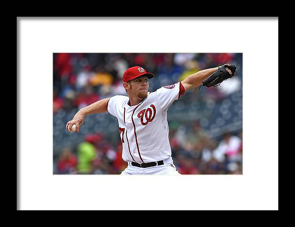 Working Framed Print featuring the photograph Stephen Strasburg by Patrick Smith