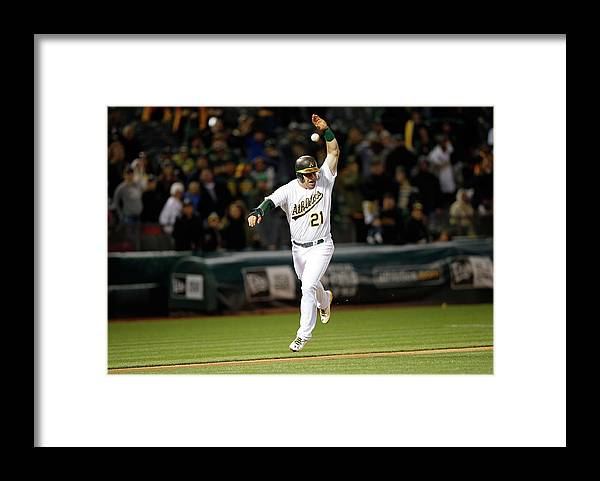 Ninth Inning Framed Print featuring the photograph Stephen Vogt by Ezra Shaw