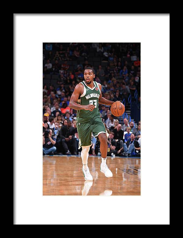 Nba Pro Basketball Framed Print featuring the photograph Sterling Brown by Bill Baptist