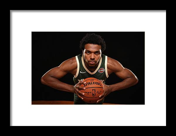 Nba Pro Basketball Framed Print featuring the photograph Sterling Brown by Brian Babineau