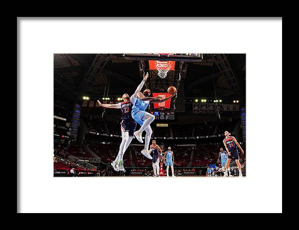 Nba Pro Basketball Framed Print featuring the photograph Sterling Brown by Cato Cataldo