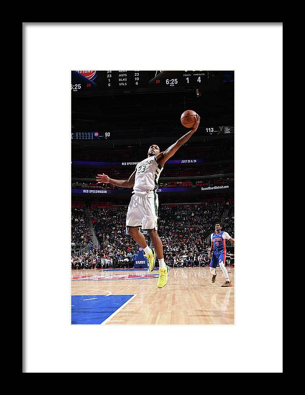 Playoffs Framed Print featuring the photograph Sterling Brown by Chris Schwegler