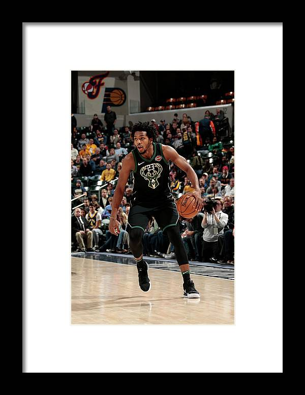 Nba Pro Basketball Framed Print featuring the photograph Sterling Brown by Ron Hoskins